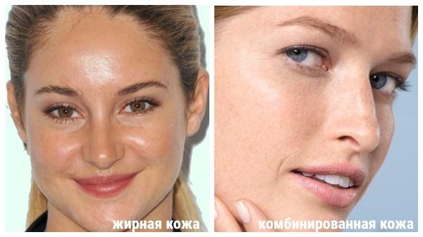жирная и комбинированная кожа
