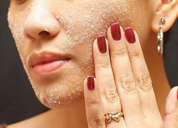 скраб из морской соли для лица