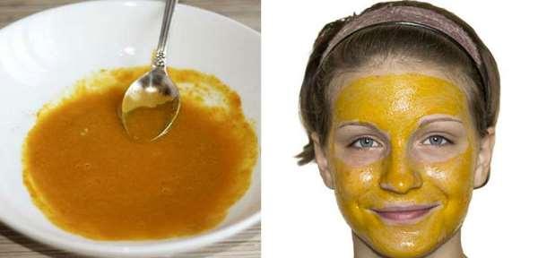 маска из меда, желтка и масла
